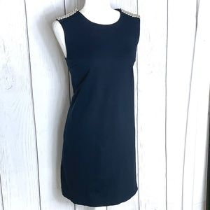 Philosophy Navy Blue & Pearl Midi Dress